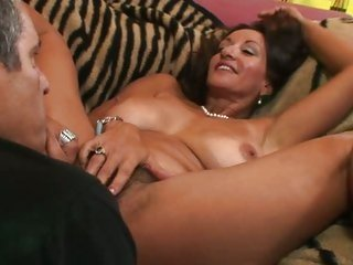 MILF Persia Pele has her hairy hole licked