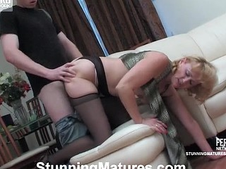 Lewd older chick getting her mellow twat exploited hard after muff-licking